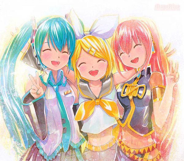 Tags: Anime, MayoRiyo, VOCALOID, Kagamine Rin, Hatsune Miku, Megurine Luka