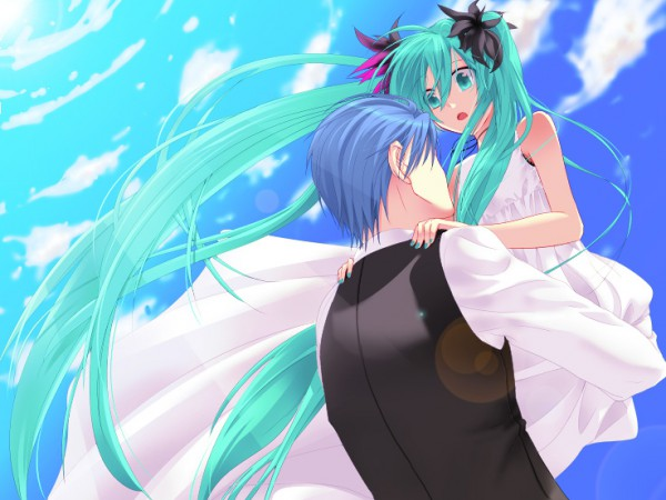 Tags: Anime, Sikijyou, Project DIVA F 2nd, VOCALOID, Hatsune Miku, KAITO, Cantarella (Song), World is Mine, Project DIVA Supreme, Pixiv