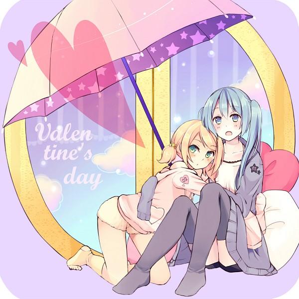 Tags: Anime, Wadaka, VOCALOID, Kagamine Rin, Hatsune Miku, Fanart