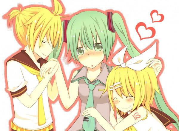 Tags: Anime, Pixiv Id 989513, VOCALOID, Kagamine Len, Kagamine Rin, Hatsune Miku