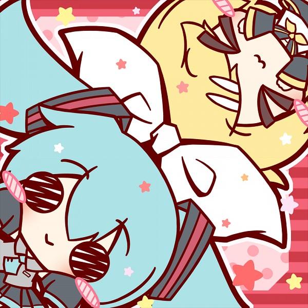 Tags: Anime, Pixiv Id 874260, VOCALOID, Hatsune Miku, Kagamine Rin