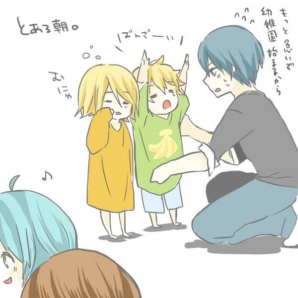 Tags: Anime, Pixiv Id 4725809, VOCALOID, Hatsune Miku, KAITO, Kagamine Len, Kagamine Rin, MEIKO (VOCALOID)