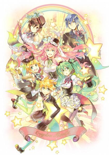 Tags: Anime, Osamu (Jagabata), VOCALOID, Kagamine Rin, MEIKO (VOCALOID), Megurine Luka, Hatsune Miku, KAITO, Kagamine Len, Mobile Wallpaper, Fanart From Piapro, Fanart, Piapro Illustrated