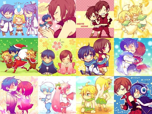 Tags: Anime, Sunnyspot (Mangaka), VOCALOID, Kagamine Rin, KAIKO, MEIKO (VOCALOID), Hatsune Miku, Hatsune Mikuo, KAITO, MEITO, Kagamine Len, Kamui Gakupo, Collage
