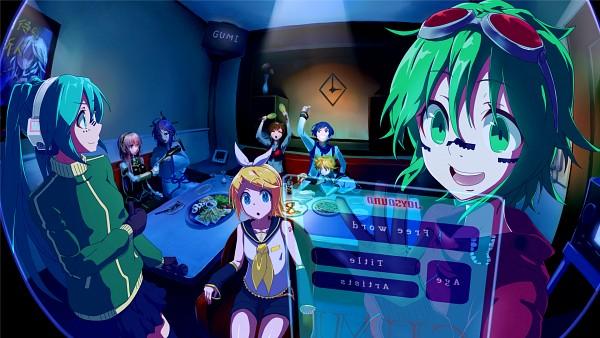 Tags: Anime, Pixiv Id 2055763, VOCALOID, KAITO, Hatsune Miku, GUMI, Kagamine Len, IA, Kamui Gakupo, Kagamine Rin, MEIKO (VOCALOID), Megurine Luka, Floating Screen