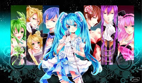 Tags: Anime, Pixiv Id 2691248, VOCALOID, Kamui Gakupo, Kagamine Rin, MEIKO (VOCALOID), Megurine Luka, Hatsune Miku, KAITO, GUMI, Kagamine Len, Pixiv