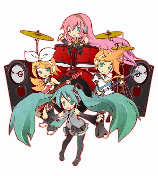 Tags: Anime, Yadokugaeru, VOCALOID, Hatsune Miku, Megurine Luka, Kagamine Len, Kagamine Rin