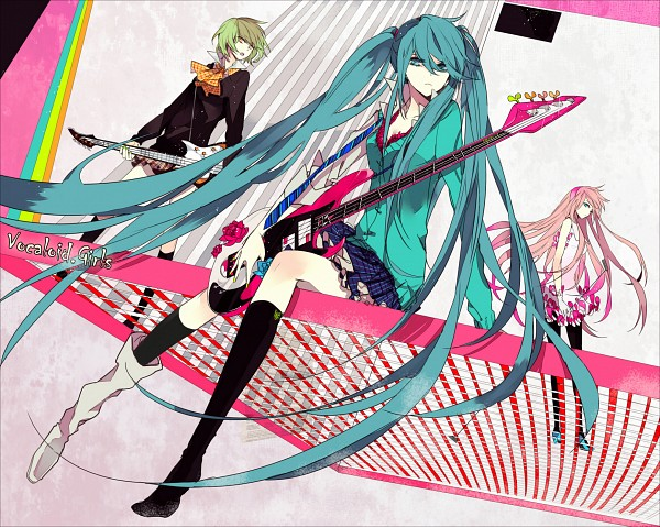 Tags: Anime, Suou, VOCALOID, Hatsune Miku, GUMI, Megurine Luka, Pixiv