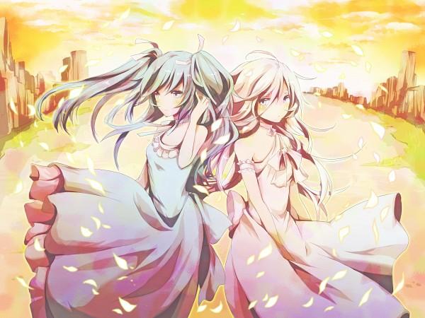 Tags: Anime, Sotsunaku, VOCALOID, Hatsune Miku, IA, Fanart, Fanart From Pixiv, Pixiv
