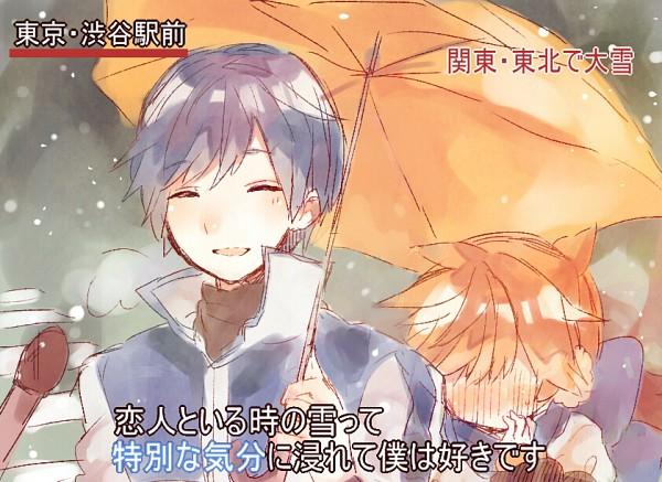 Tags: Anime, Nukoyuu, VOCALOID, KAITO, Kagamine Len, Ai-Ai Gasa, Pixiv, Tokubetsuna Kibun