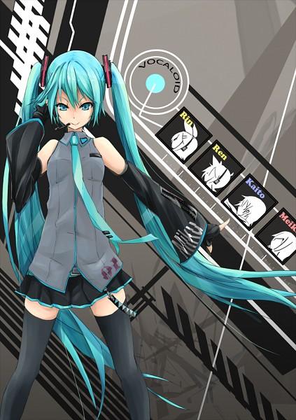 Tags: Anime, Fu-ta, VOCALOID, Kagamine Len, Kagamine Rin, MEIKO (VOCALOID), Hatsune Miku, KAITO, Mobile Wallpaper