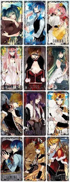 Tags: Anime, Y.tea, VOCALOID, Kamui Gakupo, Kagamine Len, AKAITO, Kagamine Rin, MEIKO (VOCALOID), Megurine Luka, Hatsune Miku, KAITO, Aquarius, Gemini
