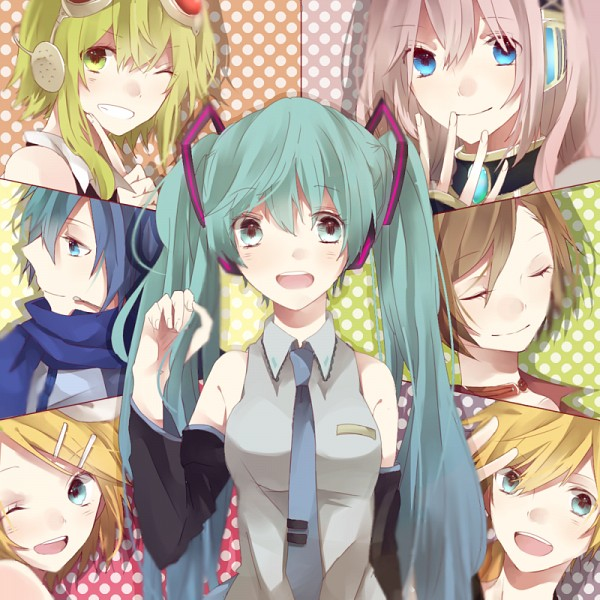Tags: Anime, Hachi8382, VOCALOID, MEIKO (VOCALOID), Megurine Luka, Hatsune Miku, KAITO, Kagamine Len, GUMI, Kagamine Rin, Fanart From Pixiv, Fanart, Pixiv