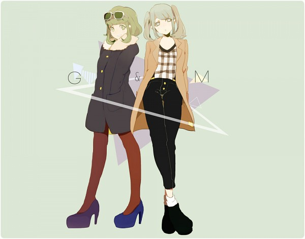 Tags: Anime, Hassan (xxhachisan), VOCALOID, GUMI, Hatsune Miku, Fanart