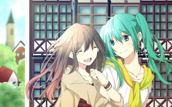 Tags: Anime, Hachi8382, VOCALOID, kokone (VOCALOID), Hatsune Miku, Pixiv, Fanart, Fanart From Pixiv