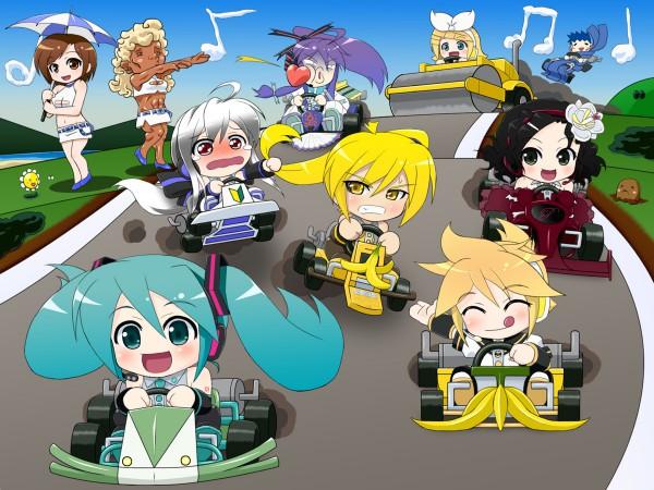 Tags: Anime, Mameshiba (Artist), UTAU, VOCALOID, KAITO, Prima (VOCALOID), Hatsune Miku, Kamui Gakupo, Kagamine Len, Sweet ANN, Akita Neru, Kagamine Rin, Yowane Haku