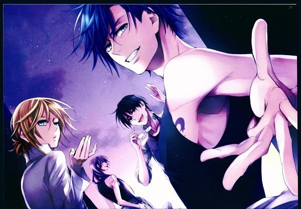 Tags: Anime, Suzunosuke, VOCALOID, KAITO, Kagamine Len, Hiyama Kiyoteru, Kamui Gakupo, Scan