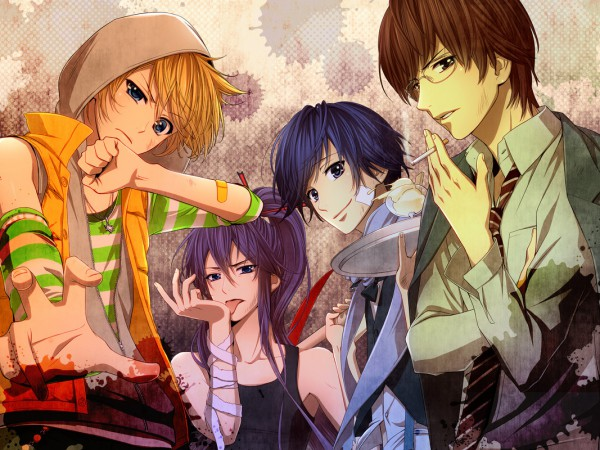 Tags: Anime, Hima (Abgata), VOCALOID, Kamui Gakupo, KAITO, Kagamine Len, Hiyama Kiyoteru, Indomitable Power, Pixiv
