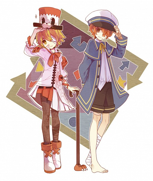 Tags: Anime, Pixiv Id 5522796, VOCALOID, Fukase (VOCALOID), Oliver (VOCALOID), Fukase (VOCALOID) (Cosplay), Oliver (Vocaloid) (Cosplay), Asymmetrical Clothing, Square, Pixiv, Fanart From Pixiv, Fanart