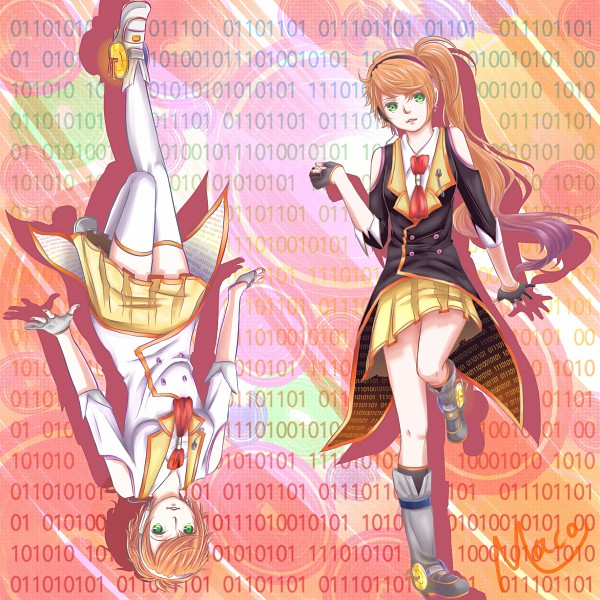 Tags: Anime, Maco, VOCALOID, Anon (VOCALOID), Kanon (VOCALOID), Binary Numbers, Pixiv