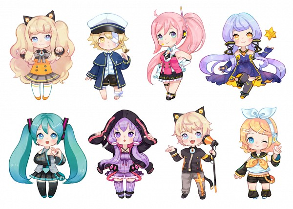 Tags: Anime, Honnim, Voiceroid, VOCALOID, Kagamine Rin, Xingchen, Oliver (VOCALOID), UNI (VOCALOID), SeeU, Hatsune Miku, James (Bird), ZeeU, Yuzuki Yukari