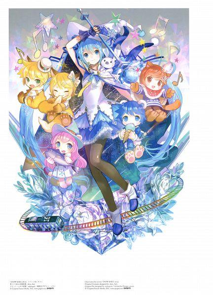 Tags: Anime, Fuji Choko, VOCALOID, KAITO, Rabbit Yukine, Kagamine Len, MEIKO (VOCALOID), Kagamine Rin, Megurine Luka, Hatsune Miku, Hikimayu, Fanart, Mobile Wallpaper