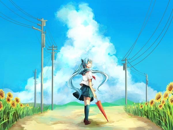 Tags: Anime, Pixiv Id 2086700, VOCALOID, Hatsune Miku, Regenschirm