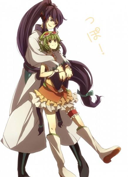 Tags: Anime, Mugi (Twinbox), VOCALOID, GUMI, Kamui Gakupo, Fanart, Pixiv, Mobile Wallpaper