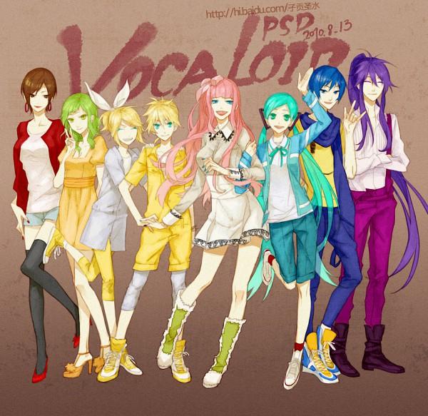 Tags: Anime, PSD, VOCALOID, Megurine Luka, Hatsune Miku, KAITO, GUMI, Kagamine Len, Kamui Gakupo, Kagamine Rin, MEIKO (VOCALOID), Pixiv