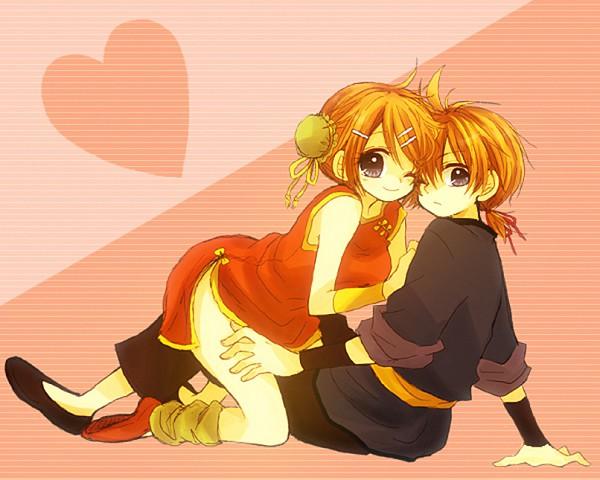 Tags: Anime, An (Pixiv1170947), VOCALOID, Kagamine Len, Kagamine Rin, Kagamine Mirrors