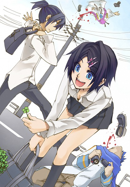 Tags: Anime, Poaro, VOCALOID, Kagene Rui, Kagamine Len, Kagene Rei, Kagamine Rin, Kamui Gakupo, KAITO, Four-leaf Clover, Mobile Wallpaper, Piapro Illustrated