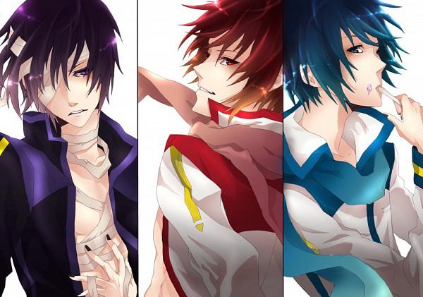 Tags: Anime, Kyou Zip, VOCALOID, Taito, AKAITO, KAITO, Fanart, Pixiv, Yandereloid