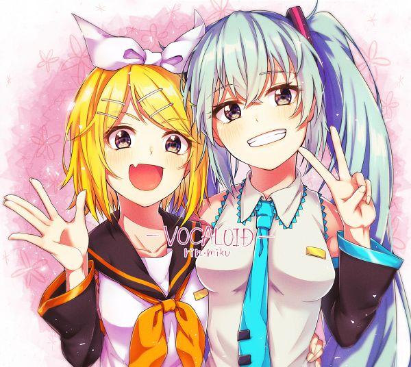 Tags: Anime, Pixiv Id 29685785, VOCALOID, Kagamine Rin, Hatsune Miku, Fanart From Pixiv, Fanart, Pixiv