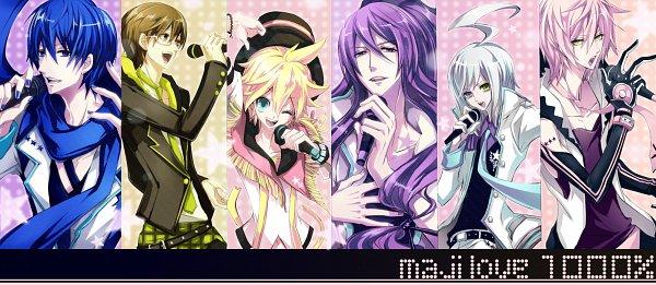 Tags: Anime, Ryuuguu Tsukasa, VOCALOID, Kamui Gakupo, KAITO, VY2, Kagamine Len, Utatane Piko, Hiyama Kiyoteru, Uta No☆Prince-sama♪ (Parody), Facebook Cover, Maji LOVE 1000%