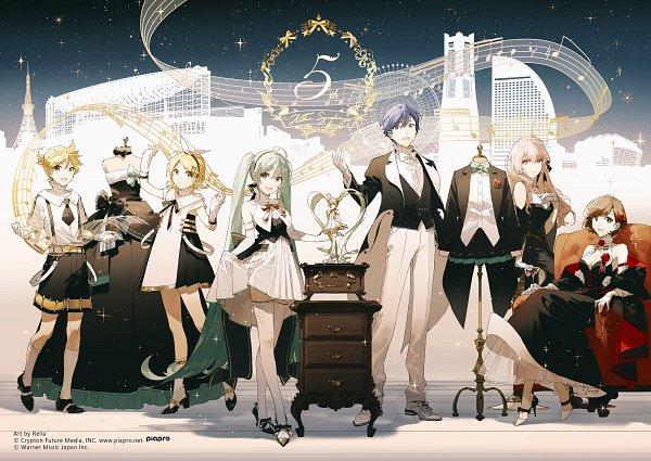 Tags: Anime, Rella, VOCALOID, MEIKO (VOCALOID), Megurine Luka, Hatsune Miku, KAITO, Kagamine Len, Kagamine Rin, Record Player, Fanart From Pixiv, Fanart, Pixiv