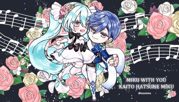 Tags: Anime, Pixiv Id 1114989, VOCALOID, KAITO, Hatsune Miku, KaiMiku