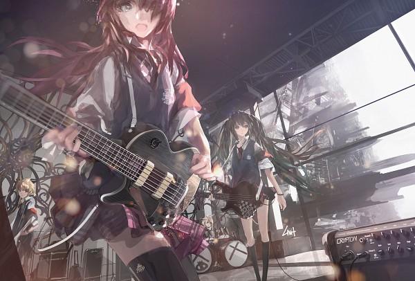 Tags: Anime, LIN+, VOCALOID, Megurine Luka, Kagamine Len, Kagamine Rin, Hatsune Miku, 1900x1200 Wallpaper, Pixiv