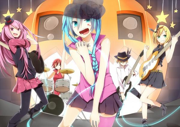 Tags: Anime, Panda (Shiro X Kuro), VOCALOID, MEIKO (VOCALOID), Hatsune Miku, Megurine Luka, Kagamine Len, Kagamine Rin, Hanging Star