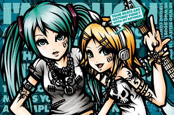Tags: Anime, Project.C.K., VOCALOID, Kagamine Rin, Hatsune Miku, Punk, Writing Error