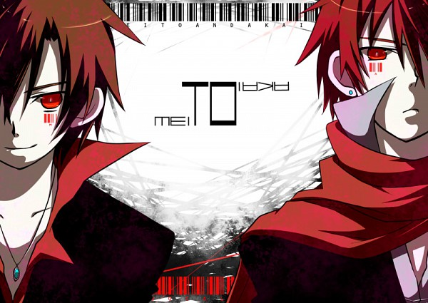 Tags: Anime, VOCALOID, AKAITO, MEITO, Barcode, Artist Request