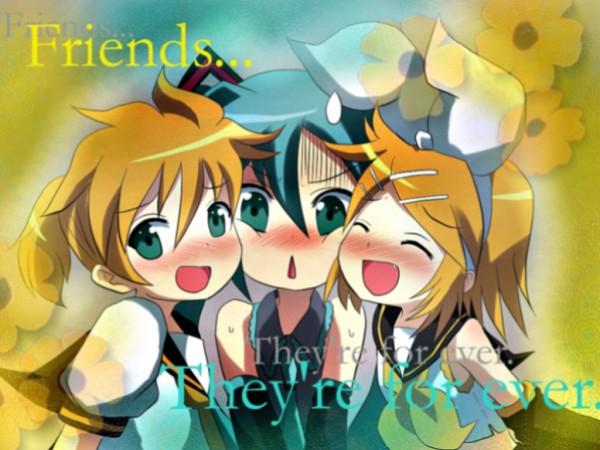 Tags: Anime, VOCALOID, Hatsune Miku, Kagamine Len, Kagamine Rin, Wallpaper, Artist Request