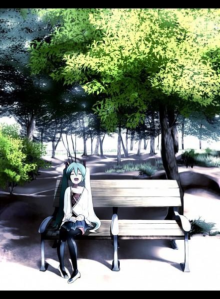 Tags: Anime, Mozuku Doukoukai, VOCALOID, Hatsune Miku, Park, Fanart, Pixiv