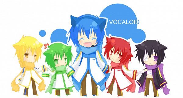 Tags: Anime, Pixiv Id 2147097, VOCALOID, NIGAITO, AKAITO, KAITO, KIKAITO, TAITO (VOCALOID), Facebook Cover, Pixiv, Yandereloid