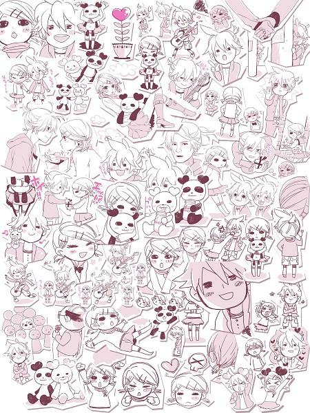 Tags: Anime, Shiroyama Ayako, VOCALOID, Kagamine Len, Kagamine Rin, Suki Kirai, Kagamine Mirrors