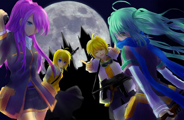 Tags: Anime, VOCALOID, Hatsune Miku, Megurine Luka, Kagamine Len, Kagamine Rin, Artist Request