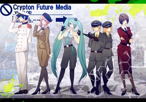Tags: Anime, VOCALOID, MEIKO (VOCALOID), Megurine Luka, Hatsune Miku, KAITO, Kagamine Len, Kagamine Rin, Pixiv