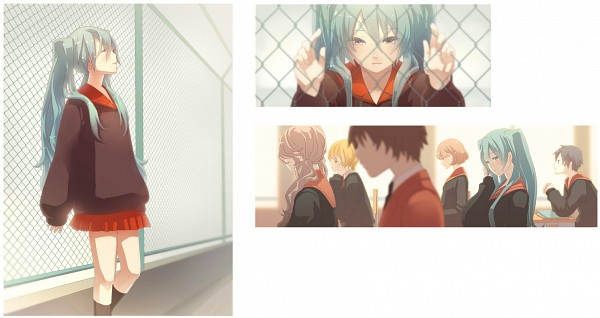 Tags: Anime, iXima, VOCALOID, Hatsune Miku, Facebook Cover