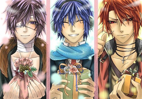 Tags: Anime, Thuyuki, VOCALOID, Taito, AKAITO, KAITO, Scratch, Piapro Illustrated, Yandereloid