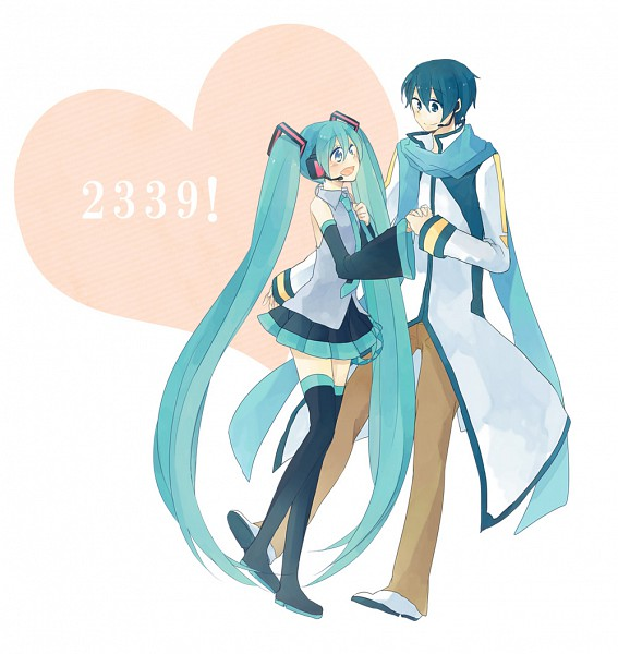 Tags: Anime, Pixiv Id 129641, VOCALOID, Hatsune Miku, KAITO, Fanart, Pixiv, KaiMiku