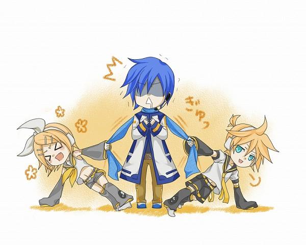Tags: Anime, VOCALOID, Kagamine Len, Kagamine Rin, KAITO, Artist Request, Comic